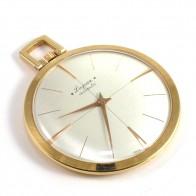Orologio da tasca Lugran d'oro 18 ct  -5,4 cm x 4,4 cm; 14,1 gr