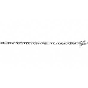 Bracciale tennis oro e diamanti - 1,05 ct; 18 cm