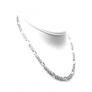 Collana uomo catena grossa groumette 3+1 argento -50 cm; 33 gr
