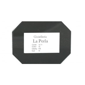 Diamante taglio brillante, 0,06 ct, G, VS,  in Blister La Perla e confezione regalo