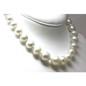 Collana girocollo oro, perle australiane e diamanti