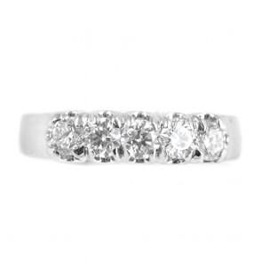 Anello riviera oro e diamanti -0,92 ct