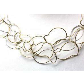 Collana tripla fila maglie oro bicolore