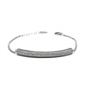 Bracciale argento e zirconi