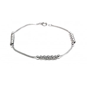 Bracciale spirali argento