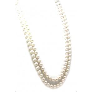 Collana doppio filo perle e oro