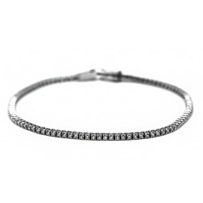 Bracciale tennis oro e diamanti; 1,19 ct