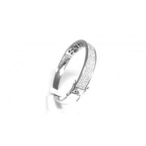 Bracciale rigido argento e zirconi