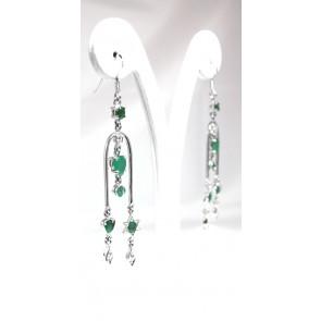 Orecchini argento e smeraldi