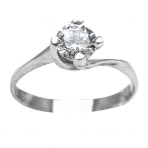 Parure (orecchini e ciondolo punti luce, anello solitario e bracciale) argento e zirconi