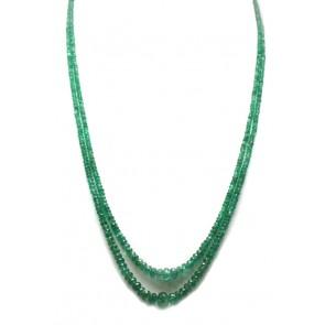 Collana a 2 fili oro e smeraldo