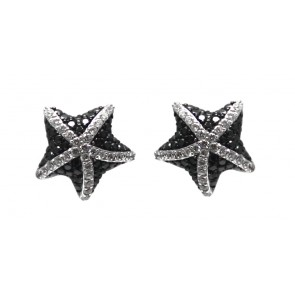 Orecchini stelle al lobo argento e zirconi