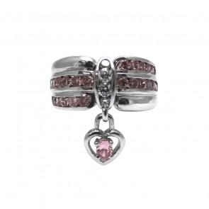 Anello argento charm cuore
