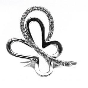Anello farfalla, oro e diamanti