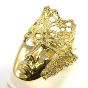 Anello Lace, maschera veneziana e pizzo d'oro; 13,75 gr