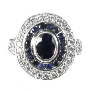 Anello margherita ovale argento
