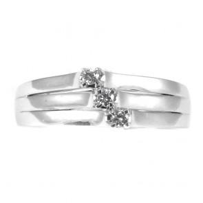 Anello trilogy-fascia, oro e diamanti