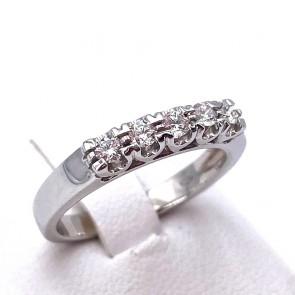 Anello riviera oro e diamanti -0.63 2t; 3.66 gr