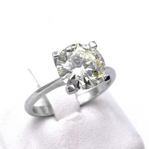 Anello solitario capolavoro, oro e diamante - 2.51 ct; M VS1, 4.08 gr