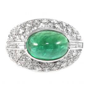Anello maxi fascia bombata oro diamanti