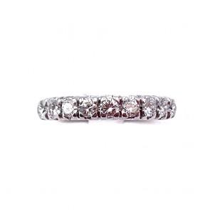 Anello riviera oro e 9 diamanti