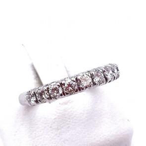 Anello riviera oro e 9 diamanti -1.10-1.20 ct; 4.37 gr