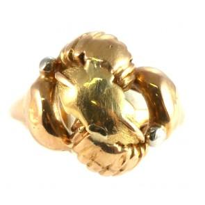 Anello bulle antico oro