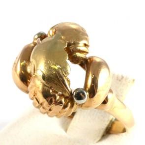 Anello bulle antico oro; 4.8 gr
