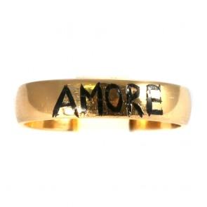 Anello fede in oro con la scritta AMORE