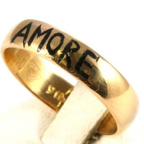Anello fede in oro con la scritta AMORE; 6.25 gr