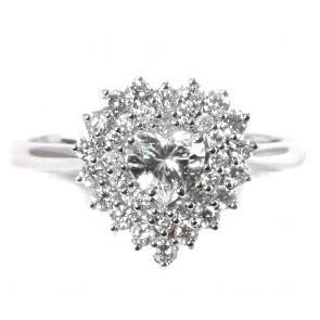 Anello cuore oro e diamanti