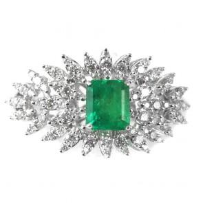 Anello capolavoro oro, smeraldo
