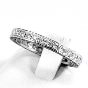Anello eternelle oro e diamanti bianchi e neri -1,18 ct totali; 2,60 gr. Misura 14.