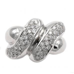 Anello maxi fascia doppia, oro e diamanti