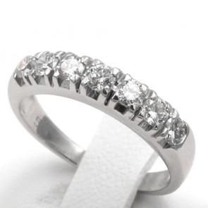 Anello riviera oro e 7 diamanti -0.50-0.55 ct; 3.29 gr