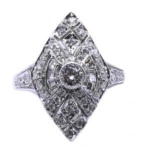 Anello spola in stile oro e diamanti