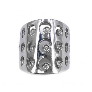 Anello maxi fascia, in oro e diamanti
