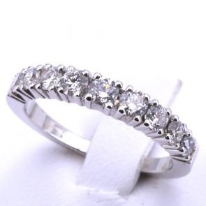 Anello riviera oro e 9 diamanti -0.85 ct; 3.46 gr