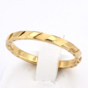 Anello fede CHIMENTO scanalata, oro giallo - misura 22; 3.61 gr