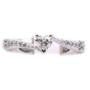 Anello cuore oro e diamanti -