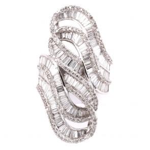 Anello maxi contrariè oro e diamanti