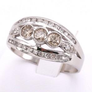 Anello fascia trilogy in stile oro e diamanti - 0.55-0.65 ct