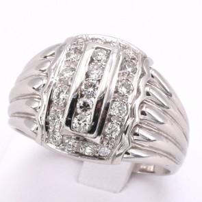 Anello maxi fascia in stile oro e diamanti - 0.50-0.60 ct