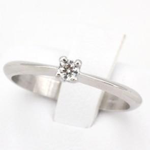 Anello solitario, oro e diamante - 0.10 ct; 2.83 gr