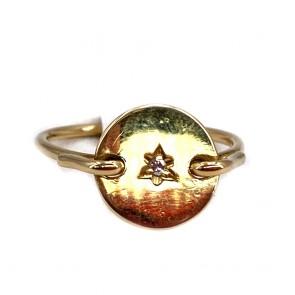 Anello oro e mini diamante