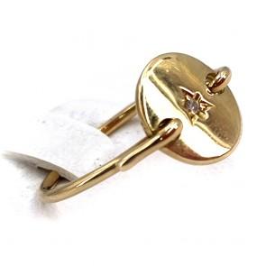 Anello oro e mini diamante  - 0.01 ct ; 2.10 gr