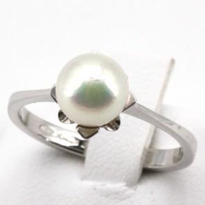 Anello perla oro; 3.3 gr