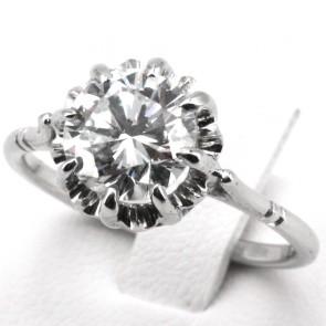 Anello maxi solitario oro e diamante - 2.10 ct, I-VS1; 3.7 gr. Certificato IGI