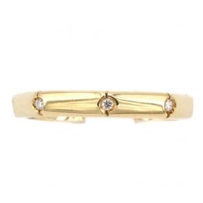 Anello fede geometrica, oro e diamanti