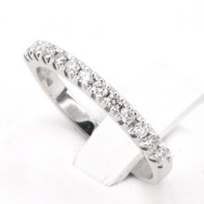 Anello riviera oro diamanti -0.28 ct; 2.35 gr